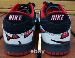 Nike Jordunk 8 CL 12 Dunk Low Air Jordan VII Playoffs 307696-002 Sb Noir Rouge 1