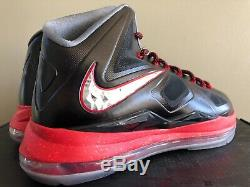 Nike Lebron 10 X Pression Noir Rouge 598360 001 Taille 11