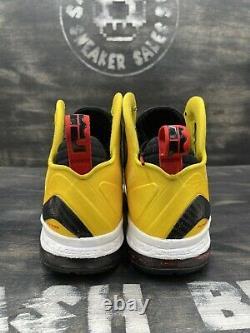 Nike Lebron 9 P. S. Elite Taxi 2012 Taille 12 516958-700 Jaune Noir Blanc Rouge Og