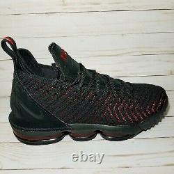 Nike Lebron James 16 XVI Fresh Bred Black Red Flyknit Og 2018 Ao2588-002 Taille 11