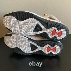 Nike Lebron VIII 8 V/2 Miami Heat Home Blanc Noir Rouge 429676-100 Taille 14