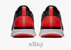 Nike Odyssey React Shield Noir / Rouge Habanero / Stock Pour Homme Limité Toutes Tailles