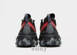Nike React Element 55 Formateurs Black-red Stock Limité Hommes Toutes Les Tailles