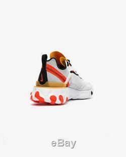 Nike React Element 55 Homme Blanc Noir Rouge Chaussure Formateur Taille 6-12