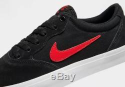 Nike Sb Chron Solarsoft Baskets Homme Noir-rouge Stock Limité Toutes Les Tailles