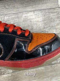 Nike Sb Dunk Low Premium Size 10 Hawaii Noir Rouge Orange Jaune Rare 313170-003