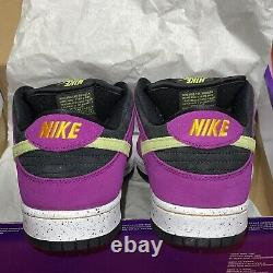 Nike Sb Dunk Low Pro Acg Red Plum Taille 12 (marque Nouvelle)