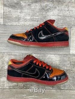 Nike Sb Dunk Low Taille 10 Haut De Gamme Hawaii Noir Rouge Orange Jaune Rare 313170-003