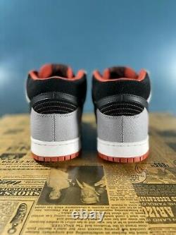 Nike Sb Dunk MID Un-supreme Stealth/ Noir- Dragon Rouge (314383-015) Taille 12