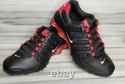 Nike Shox Nz Cuir Noir /gym Rouge Hommes Tailles Nouvelles Avec Boîte