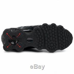 Nike Shox Tl Noir / Rouge Formateurs Uk 12 Bnib & Unused
