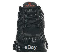 Nike Shox Tl Noir / Rouge Formateurs Uk 12 Tout Neuf Dans La Boîte