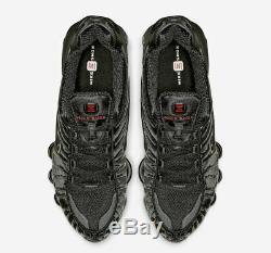 Nike Shox Tl Noir / Rouge Formateurs Uk 9 Tout Neuf Dans La Boîte