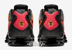 Nike Shox Tl Orange Noir Rouge Or Tiger Sunrise Chaussures Baskets 6 7 8 9 10 11 12