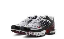 Nike Tuned 3 Noir-rouge-blanc Baskets Homme Stock Limite Toutes Les Tailles