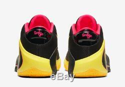 Nike Zoom Freak 1 Âme Glo Noir / Rouge Formateurs Limitée Hommes Stock Toutes Les Tailles