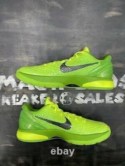 Nike Zoom Kobe 6 VI Protro Grinch 2020 Taille 11 Cw2190-300 Vert Noir Rouge Argent