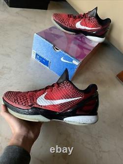 Nike Zoom Kobe 6 VI Tout Star Challenge Rouge Blanc Noir Taille 12