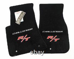 Nouveau! Dodge Challenger R/t Floor Mats 2pc Silver & Red Logos En Stock