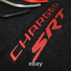 Nouveau! Dodge Charger Srt Floor Mats Sedan Red Logo Red Trim -srt 392 En Stock