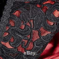 Nouveau Manteau Gilet Gothique Punk Rave Noir Rouge Velveteen Y656 All Stock En Australie