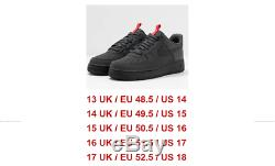 Nouveau Nike Air Force 1 07 Formateurs Mat Gris Foncé Noir Rouge Sneaker Bas Chausse