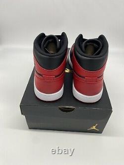Nouveau Nike Air Jordan 1 MID Banned Bred Noir Rouge 554724-074 Hommes Taille 8