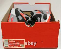 Nouveau Nike Air Max 90 En Noir/radiant Rouge-blanc Couleur Taille Us 9