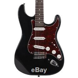 Nouveau St3 En Forme De Perle Élégant Pickguard Guitare Électrique Noir Et Rouge USA Stock