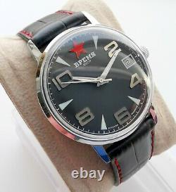Nouveau Vintage Old Stock Poljot Ultra Rare Ussr Temps Montre Mécanique 2614 Mouvement