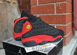 Nouveauté 2004 Air Jordan 13 Retro Bred Black Red Sz 11 Us 309259-061 Nike XIII