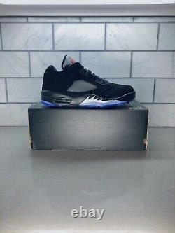 Nouveaux Nike Air Jordan 5 Low Golf Shoes Trainers (cu4523-003) Noir/ Argent/ Rouge