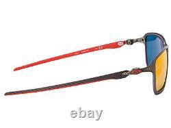 Oakley Tincan Carbon Scuderia Ferrari Lunettes De Soleil Oo6017-07 Carbon/ruby Iridium