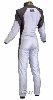 Omp Ks-3 Costume Gris Noir Rouge Taille 60 Kart Karting Racing Sport Stock Cik Général