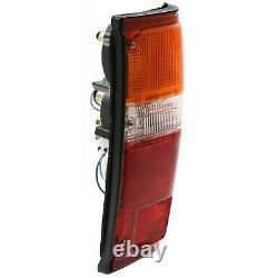 Pair Tail Light Pour 84-88 Toyota Pickup & 84-89 4runner À Gauche Et À Droite Noir Trim