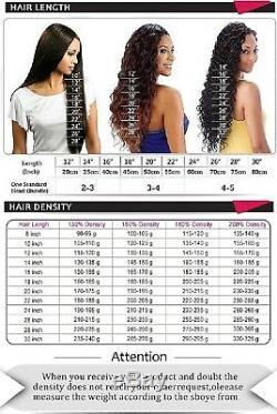 Perruque De Cheveux Humains 20 180% Den