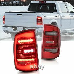 Pour 09-18 Ram All Trim Pickup & 19-21 1500 Classic Red Fibre Optic Led Taillight
