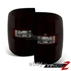 Pour 14-18 Gmc Sierra 1500 2500 3500 Style Oe Feu De Queue Teinté De Fumée Paire De Lampe