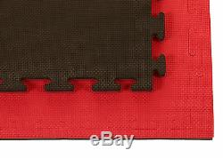 Promat Jigsaw Mats Noir / Rouge Finition Standard 20mm (forme T)