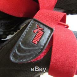 Puma Mostro Ripstop Hommes 9.5 Noir Rouge Entraîneur New Old Stock! 341788