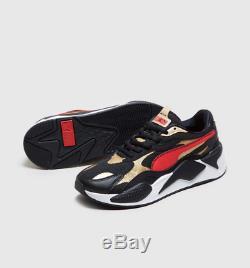 Puma Rs-x 3 Super Black-red-gold Baskets Homme Toutes Les Tailles Stock Limite