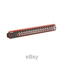 Rail Leapers Pro Keymod 15 Super Slim Noir Et Rouge Mtu019sskr2