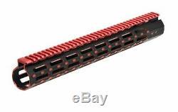Rail Ultra Mince Leapers Utg Pro M-lok 15 Pouces, Noir / Rouge Deux Tons, Mtu019ssmr2
