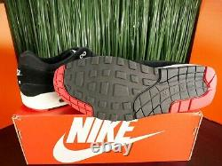 Rare Nike Air Max 1 Premium Bred Black Red White Mens Shoes 875844-007 Taille 14