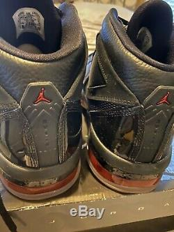 Rare Sample Nike Air Jordan 16,5 Equipe Blk / Argent / Red Dead Stock Taille 11 Chaussures