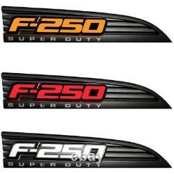 Recon Illuminated F-250 Black Fender Emblems Pour 2011-2016 Ford F-250 Super Duty