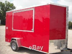 Remorque Fermée 6x12 Remorques Fermées Cargo Texas En Stock Noir Ou Rouge