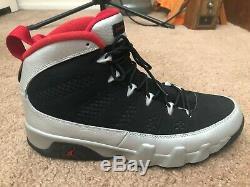 Retro Nike Air Jordan 9 Johnny Kilroy # 4 Argent / Noir / Rouge Hommes Sz 10,5 W Box