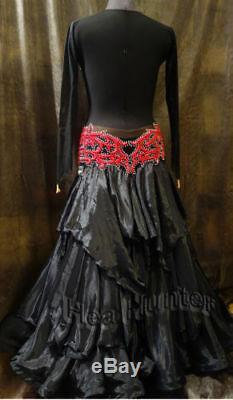 Robe De Danse Pour Femmes, Style De Salle De Bal Tango Standard Us 12 Uk 14 Dentelle Rouge Noire