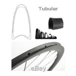 Roues Vélo En Fibre De Carbone Standard Route Cycle Wheelset 38mm Tubulaire 700c Clincher